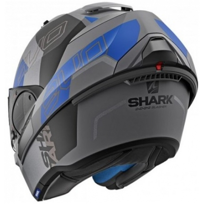 SHARK přilba EVO-ONE 2 Slasher Mat anthracite/black/blue