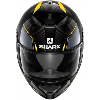 SHARK přilba SPARTAN CARBON Silicium antracite/carbon/yellow