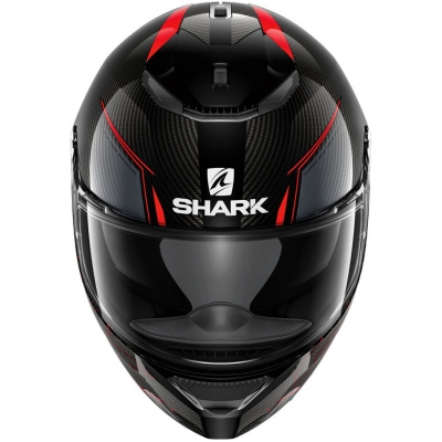 SHARK přilba SPARTAN CARBON Silicium antracite/carbon/red