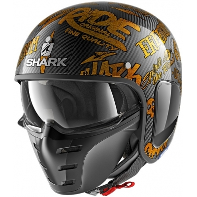 SHARK přilba S-DRAK Carbon Freestyle Cup carbon/gold/gold