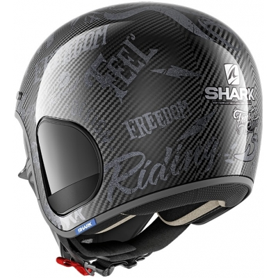 SHARK přilba S-DRAK Carbon Freestyle Cup carbon/anthracite/anthracite