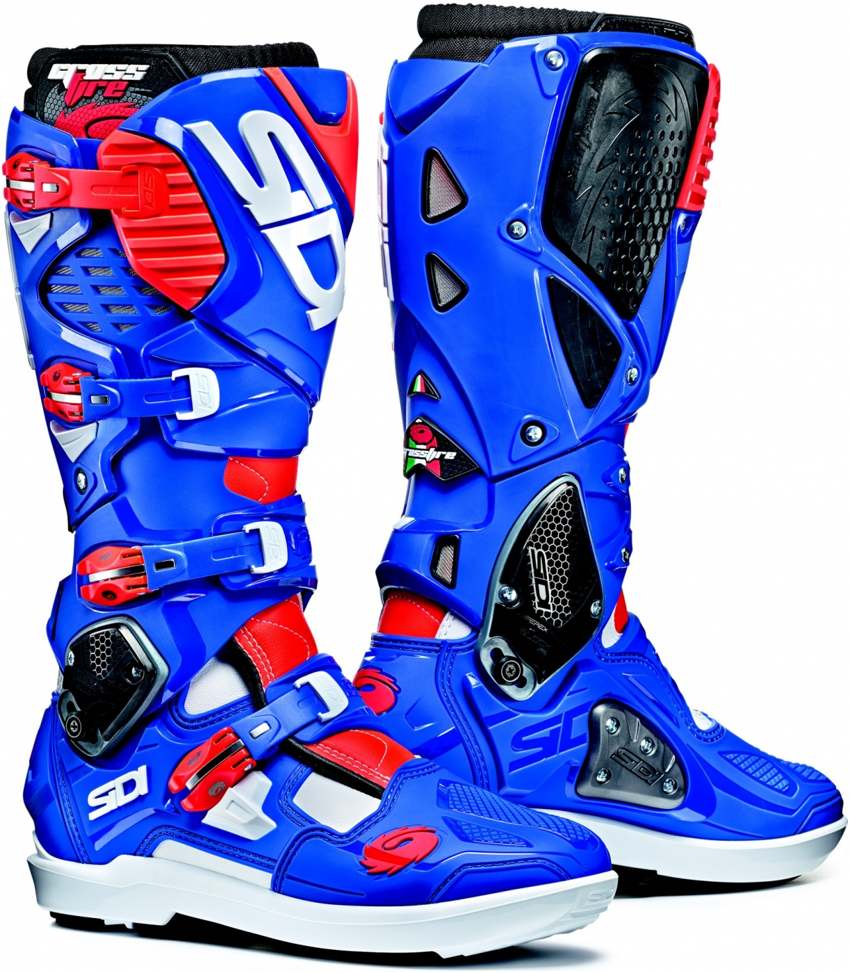 sidi top nky crossfire 3 srs white blue fluo red bonmoto. Black Bedroom Furniture Sets. Home Design Ideas