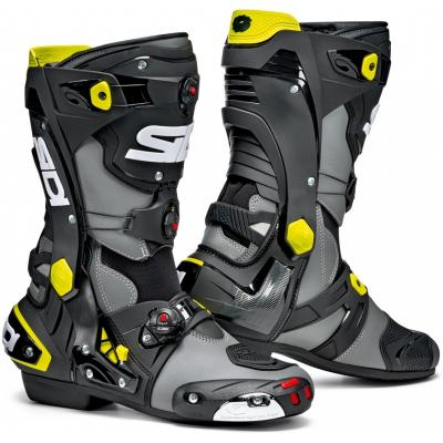SIDI topánky REX grey / black / yellow fluo