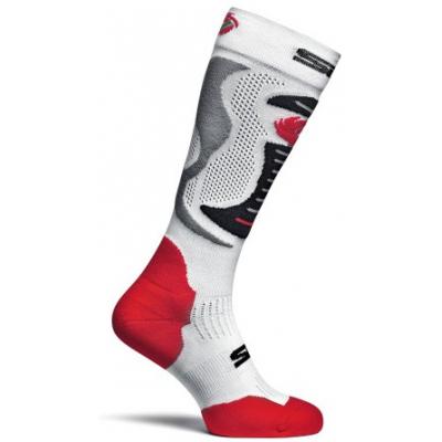 SIDI ponožky Faenza white / red