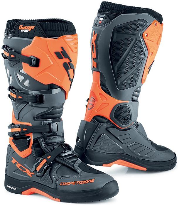 eafa13598 TCX topánky COMP EVO 2 MICHELIN dark grey/orange fluo | BONMOTO