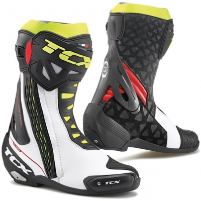 TCX boty RT-RACE white/red/fluo yellow VYSTAVENÉ