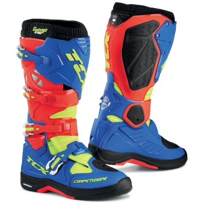 TCX boty COMP EVO 2 MICHELIN red/bright blue/yellow fluo