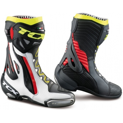 TCX boty RT-RACE PRO AIR white/red/fluo yellow