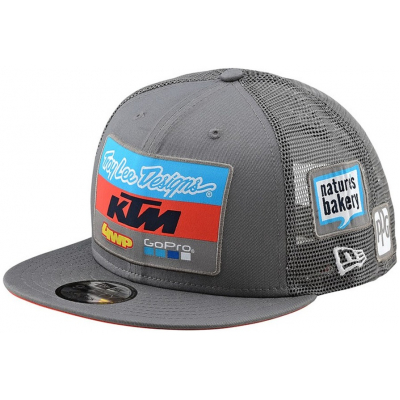 KTM kšiltovka TEAM Troy Lee Designs 19 charcoal