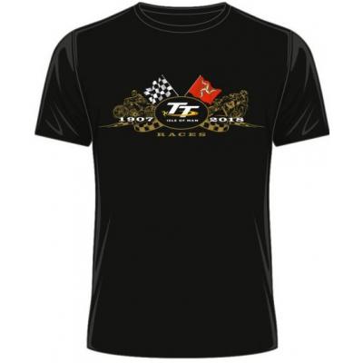 TT tričko TT 2018 Zlaté moto black