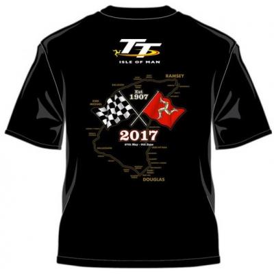 TT triko TT 2017 Zlaté moto black