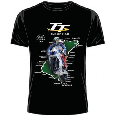 TT triko TT 2018 Green-Moto-Isle black