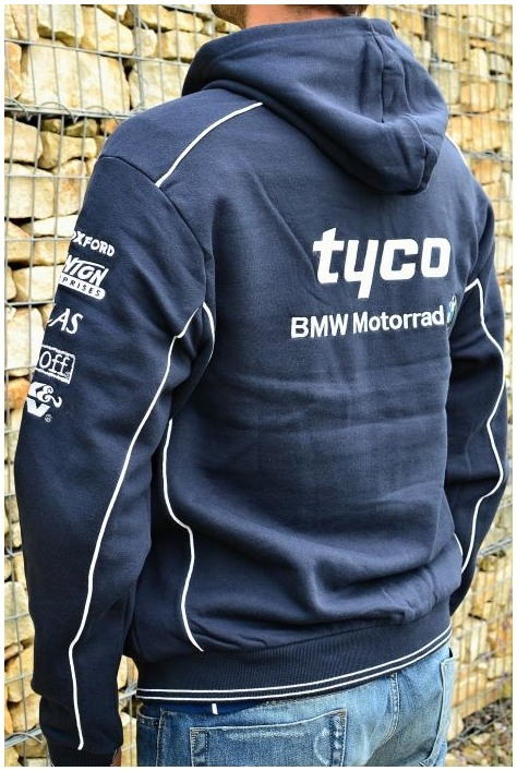 CLINTON ENTERPRISES mikina s kapucí TYCO BMW dark blue  6be3c462121