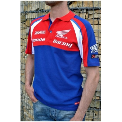 CLINTON ENTERPRISES polo tričko HONDA RACING ENDURANCE red/blue