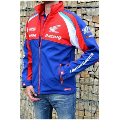 CLINTON ENTERPRISES bunda HONDA RACING ENDURANCE Softshell red/blue