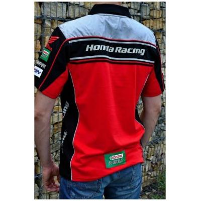 CLINTON ENTERPRISES polo triko HONDA RACING red/black/white