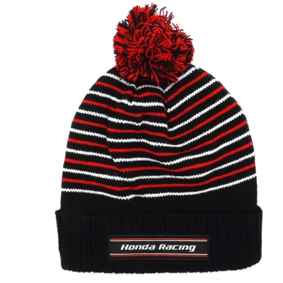 CLINTON ENTERPRISES čepice s bambulí HONDA RACING black/red/white