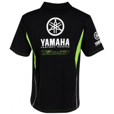 CLINTON ENTERPRISES polo triko TECH 3 YAMAHA black