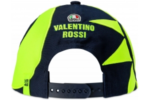 Valentino Rossi VR46 kšiltovka SUN AND MOON HELMET REPLICA blue/yellow