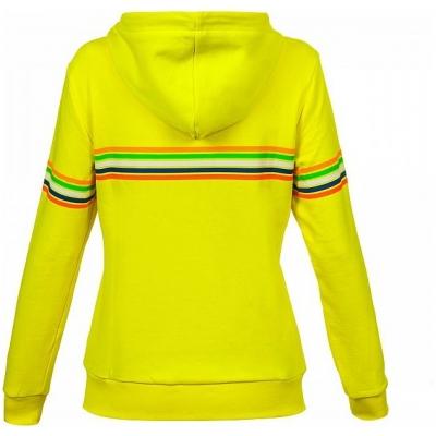 VR46 mikina STRIPES dámska yellow