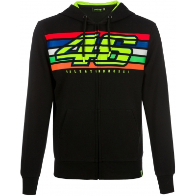 Valentino Rossi VR46 mikina STRIPES FLEECE black