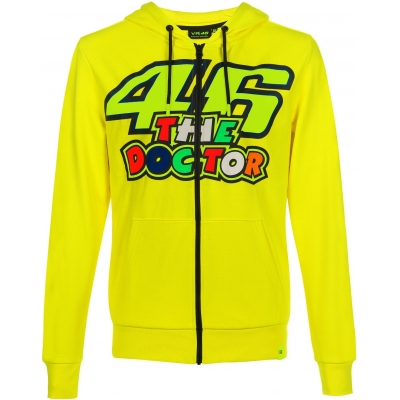Valentino Rossi VR46 mikina THE DOCTOR FLEECE yellow