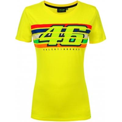 Valentino Rossi VR46 triko STRIPES dámské yellow