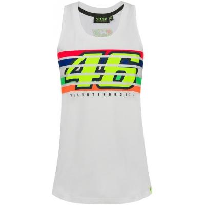 Valentino Rossi VR46 tílko STRIPES dámské white