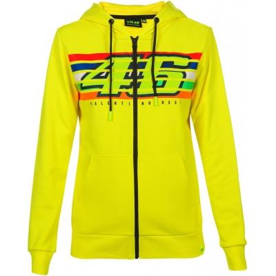 Valentino Rossi VR46 mikina STRIPES dámská yellow