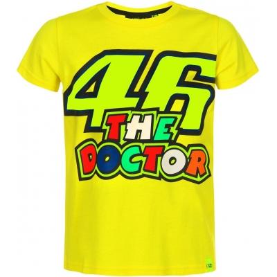 Valentino Rossi VR46 tričko THE DOCTOR detské yellow