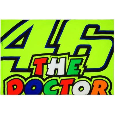 Valentino Rossi VR46 vlajka THE DOCTOR yellow