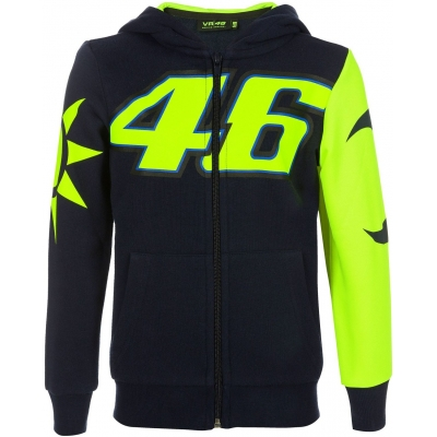 Valentino Rossi VR46 mikina SUN AND MOON HELMET REPLICA dětská black