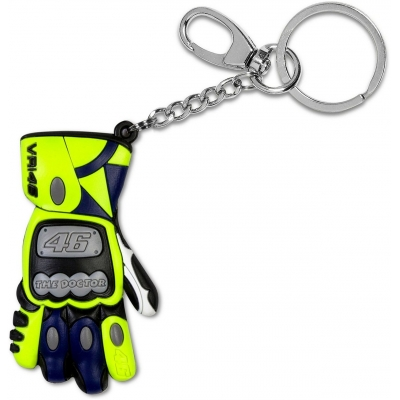 Valentino Rossi VR46 klíčenka GLOVE blue/yellow