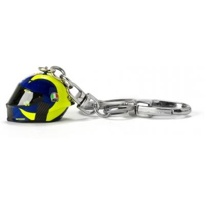 Valentino Rossi VR46 klíčenka 3D HELMET blue/yellow