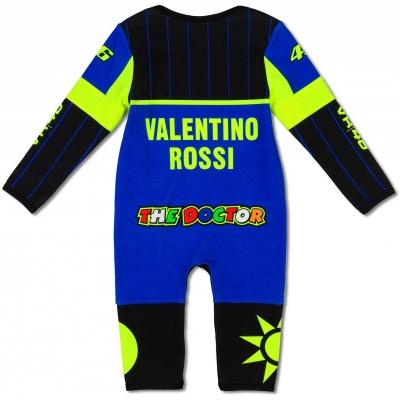 Valentino Rossi VR46 dupačky REPLICA OVERALL dětské blue/black/yellow