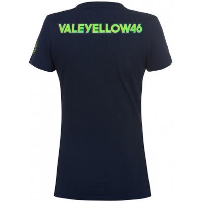 Valentino Rossi VR46 triko 46 VALEYELLOW dámské black