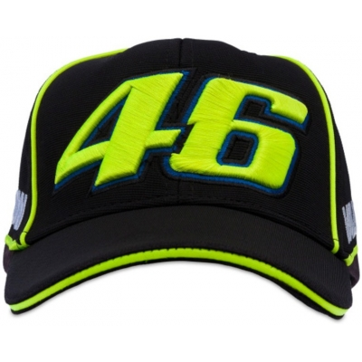VR46 kšiltovka VALEYELLOW46 black/yellow