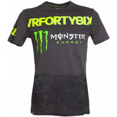 VR46 triko VRFORTYSIX MONZA grey/black
