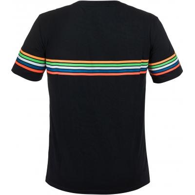 Valentino Rossi VR46 tričko STRIPES black