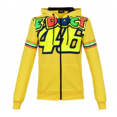 Valentino Rossi VR46 mikina STRIPES yellow