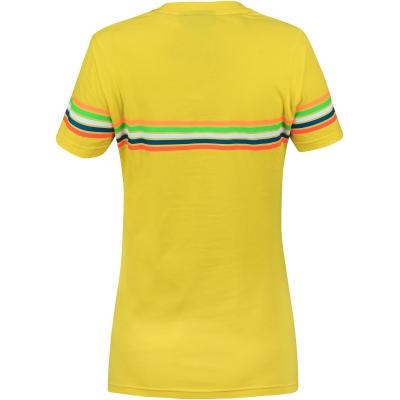 VR46 triko STRIPES dámské yellow