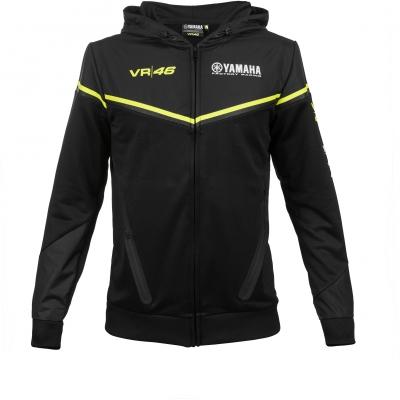 Valentino Rossi VR46 mikina YAMAHA FULL ZIP HOODIE black