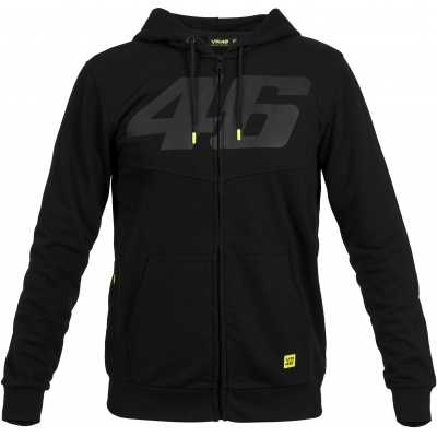 VR46 mikina na zip CORE 46 black