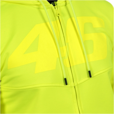 VR46 mikina na zip CORE 46 yellow fluo