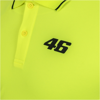 VR46 polo triko CORE 46 yellow fluo