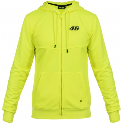 VR46 mikina na zip CORE yellow fluo