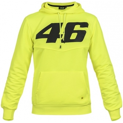 VR46 mikina s kapucí CORE yellow fluo