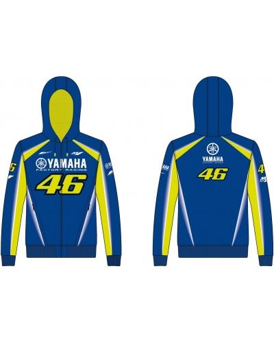 Valentino Rossi VR46 mikina YAMAHA FULL ZIP HOODIE navy