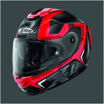 X-LITE přilba X-903 UC Evocator carbon/red