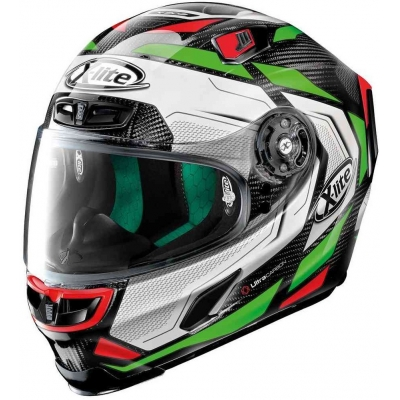 X-LITE přilba X-803 UC Caesar carbon/white/green/red